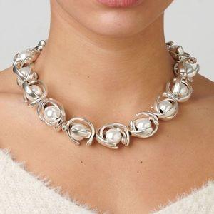 UNO de 50 Rare Pearls Silver Necklace